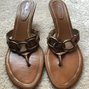 Cole Haan Heeled Thong Sandals - Size 10 1/2 B